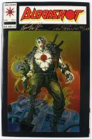 "Don Perlin & Kevin VanHook Signed LE 1993 ""Bloodshot"" Issue #1 Valiant Comic Book (JSA COA) at PristineAuction.com"