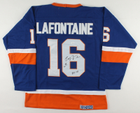 """Pat LaFontaine Signed Islanders Jersey Inscribed """"HOF 03"""" (JSA COA) at PristineAuction.com"""
