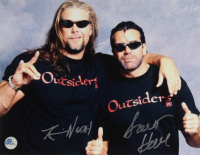 """Kevin Nash & Scott Hall Signed """"The Outsiders"""" 11x14 Photo (Pro Player Hologram) at PristineAuction.com"""