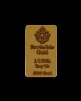 1/100 Troy Oz Scottsdale Mint Gold Bullion Bar at PristineAuction.com