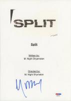 "M. Night Shyamalan Signed ""Split"" Movie Script Cover (PSA Hologram) at PristineAuction.com"