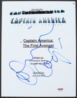 """Dominic Cooper Signed """"Captain America: The First Avenger"""" Movie Script Cover (PSA Hologram) at PristineAuction.com"""