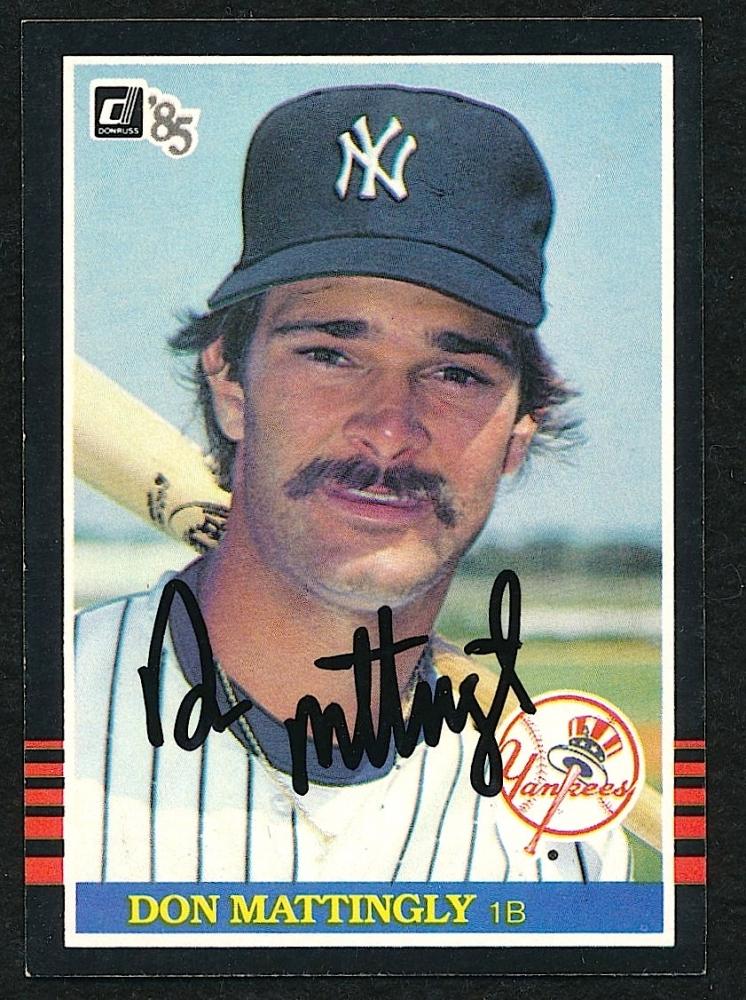 Don Mattingly Signed 1984 Donruss 295 Card Sop Coa