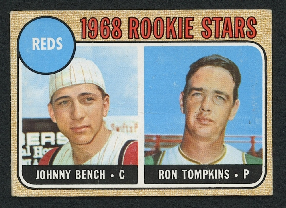 1968 Topps 247 Rookie Stars Johnny Bench Rc Pristine Auction