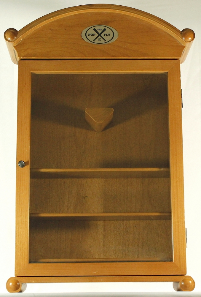 Cabinet Wall Mount Baseball Display Case The Pop Fly Measures 20 X