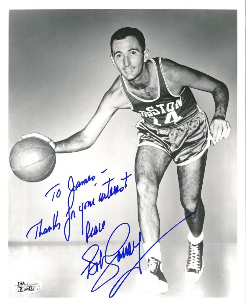 ... Bob Cousy Signed Celtics 8x10 Photo Personalized (JSA COA) at  PristineAuction.com ... 559cd6299