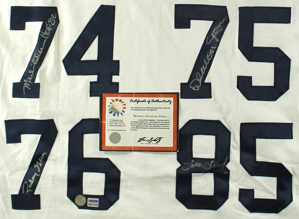 1bcacd1b9 Fearsome Foursome Signed Rams Jersey with Merlin Olsen