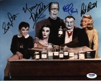 The Munsters 8x10 Photo Signed by (4) with Al Lewis, Yvonne De Carlo, Butch Patrick & Patricia Ann Priest (PSA LOA) at PristineAuction.com