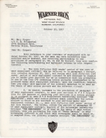 Gary Cooper Signed Original Warner Bros. 13 Page Contract from 1957 (PSA LOA) at PristineAuction.com