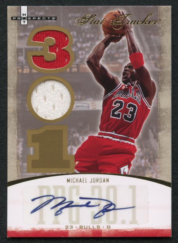 2007-08 Fleer Hot Prospects Stat Tracker ST-26 Michael Jordan Chicago Bulls Card Verzamelkaarten: sport