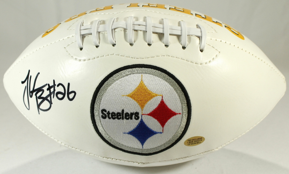 3047d659f LeVeon Bell Signed Steelers Logo Football (LeVeon Bell Hologram) at  PristineAuction.com