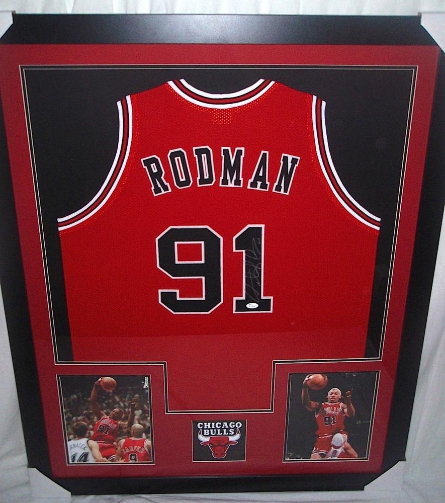 online store 16bc4 b73f5 dennis rodman framed jersey