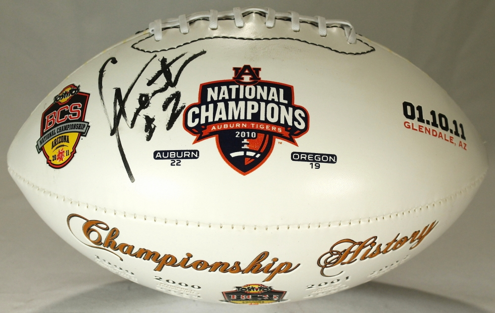 Cam Newton Signed Auburn Tigers National Championship ...
