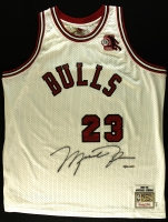 """Michael Jordan Signed Limited Edition Authentic Mitchell & Ness 1984-85 """"Rookie of the Year"""" Bulls Jersey #30/123 (UDA COA) at PristineAuction.com"""