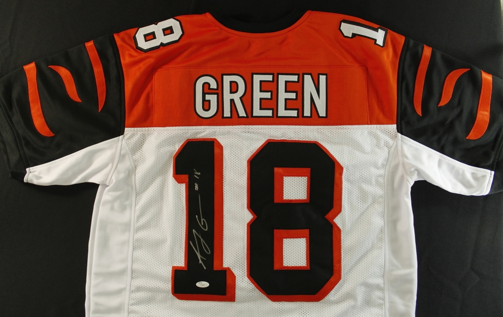aj green signed jersey