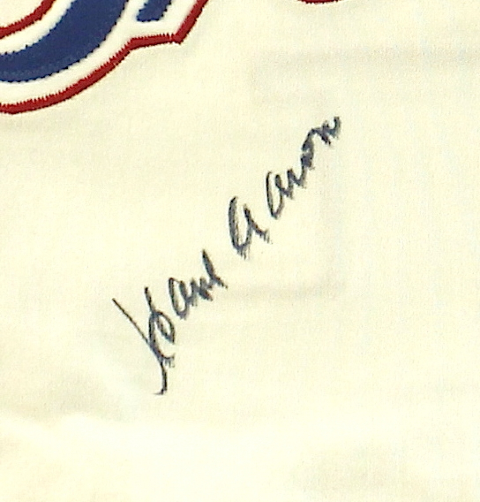Hank Aaron Signed Braves Authentic Mitchell   Ness Throwback Jersey (JSA  ALOA) at PristineAuction 331dc8f23