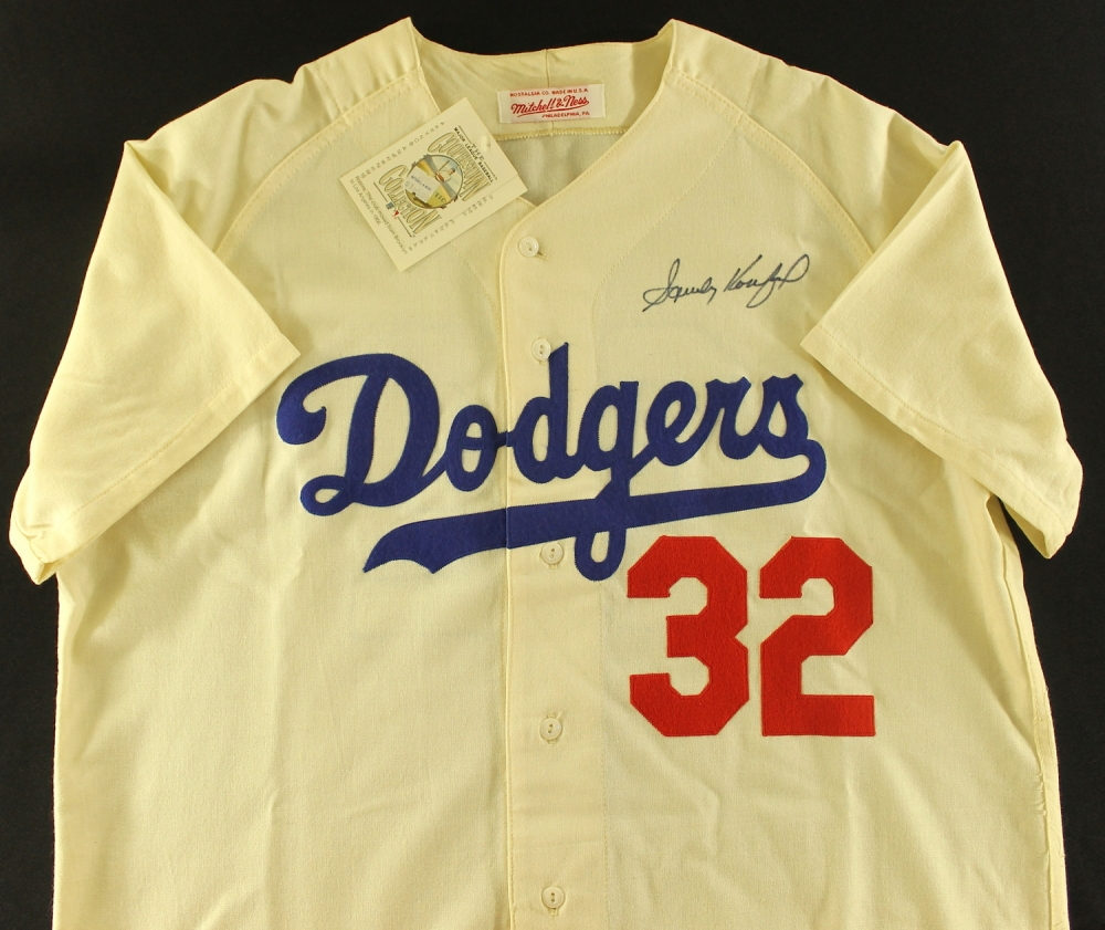 214f86571 Sandy Koufax Signed Dodgers Authentic Mitchell & Ness Throwback Jersey (JSA  ALOA) at PristineAuction