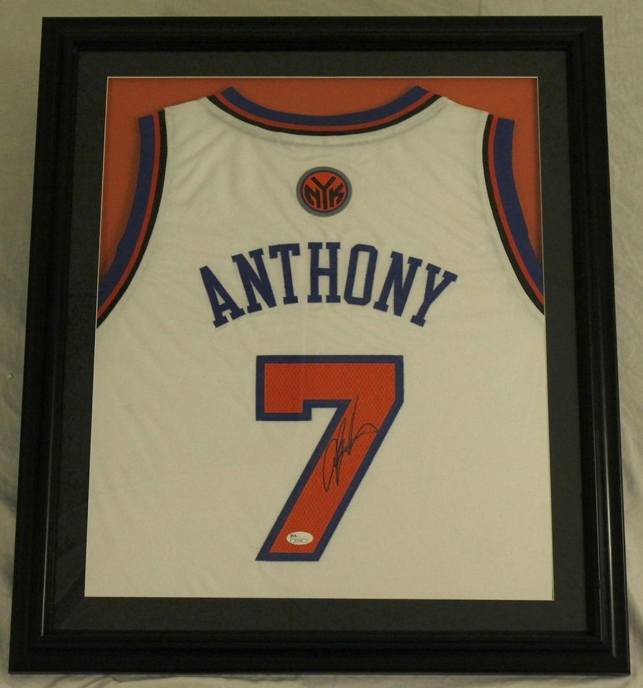 timeless design 589f2 e4c8e get carmelo anthony autographed jersey 2829e 574aa