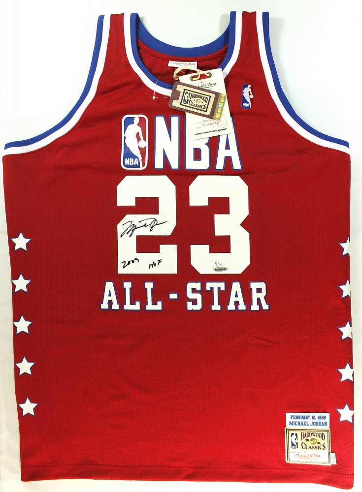 12bb50533 jordan 1993 all star jersey mitchell ness 3  michael jordan signed limited  edition authentic mitchell ness 1989 all star game jersey inscribed