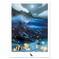 "Wyland Signed ""Hanalei Bay"" 18x25 Limited Edition Mixed Media On Paper at PristineAuction.com"