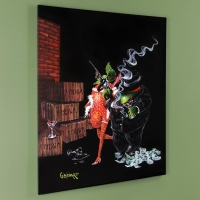 """Michael Godard Signed """"Ollie Capone"""" LE Hand-Embellished 42x53 Giclee on Canvas"""