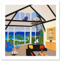 """Fanch Ledan Signed """"Duplex Over Stinson"""" Limited Edition 18x18 Serigraph On Paper at PristineAuction.com"""
