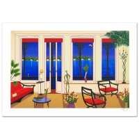 """Fanch Ledan Signed """"Balcony Over Bahia"""" Limited Edition 13x19 Serigraph"""