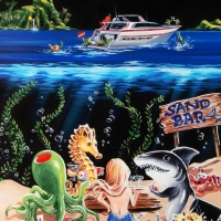 "Michael Godard Signed ""Sand Bar 1"" Limited Edition 42x53 Hand-Embellished Giclee on Canvas at PristineAuction.com"
