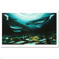 "Wyland ""Humpback Dance"" Signed Limited Edition 35"" x 24"" Giclee on Canvas at PristineAuction.com"
