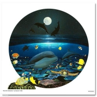 "Wyland Signed ""Moonlight Celebration"" 20x20 Limited Edition Giclee on Canvas"
