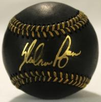 Nolan Ryan Signed Black Leather OML Baseball (PSA COA & Ryan Hologram) at PristineAuction.com