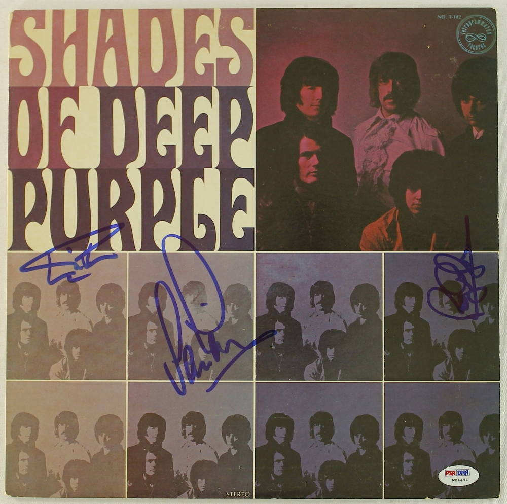 Ian Paice Roger Glover Ian Gillan Signed Deep Purlple Shades Of Deep Purple Lp Record Album Psa Loa Pristine Auction,Best White Paint Colors For Walls