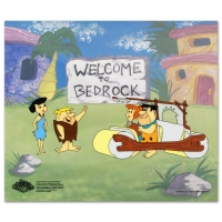 "The Flintstones ""Fred's New Car"" Limited Edition 12x10 Sericel at PristineAuction.com"