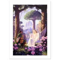 "Greg Hildebrandt Signed ""The Gift Of Galadriel"" Limited Edition 19x29 Giclee on Canvas at PristineAuction.com"