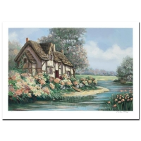 """Earlene Moses Signed LE """"Springtime in Sheffield"""" 40x28 Serigraph at PristineAuction.com"""