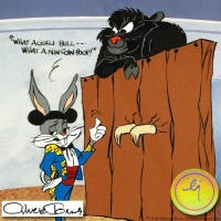 """Chuck Jones """"Bugs and Gulli-Bull"""" Sold Out Limited Edition Animation Cel at PristineAuction.com"""