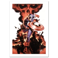 """Stan Lee Signed """"Captain America #1"""" Limited Edition 18x27 Giclee on Canvas by Steve Epting and Marvel Comics"""