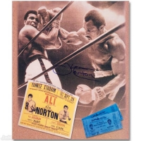 "Ken Norton Signed ""Ken Norton and Ali Ticket"" 12x14 Photo at PristineAuction.com"