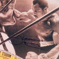 "Ken Norton Signed ""Ken Norton & Ali Ticket"" 12x14 Photo (PA LOA) at PristineAuction.com"