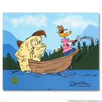 "Chuck Jones Signed ""Fish Tale"" Sold Out Limited Edition 10x12 Animation Cel (Chuck Jones COA) at PristineAuction.com"