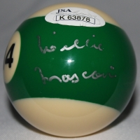 Willie Mosconi Signed #14 Pool Ball (JSA COA)