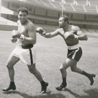 Muhammad Ali Licensed 40x30 Photograph with Ken Norton at PristineAuction.com