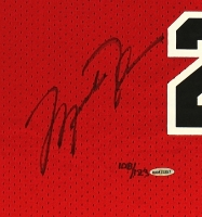 """Michael Jordan Signed Limited Edition Authentic Mitchell & Ness 1984-85 Rookie Bulls Jersey With """"ROY"""" Patch (UDA COA) at PristineAuction.com"""