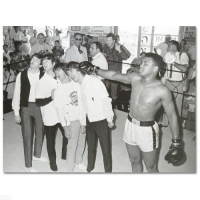 Muhammad Ali Licensed 40x30 Photo with The Beatles at PristineAuction.com