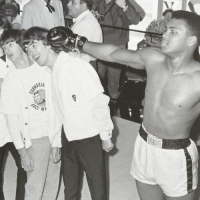 Muhammad Ali Licensed 30x40 Photo with The Beatles (PA LOA) at PristineAuction.com