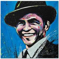 "David Garibaldi Signed ""Frank Sinatra (Blue Eyes)"" Limited Edition 14x14 Giclee on Canvas"