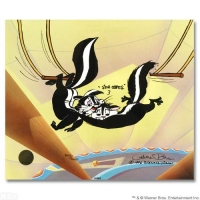 "Chuck Jones Signed ""Kitty Catch"" Sold Out Limited Edition 10x12 Animation Cel at PristineAuction.com"