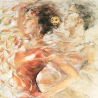 """Gary Benfield Signed """"Summer Romance"""" Limited Edition 12x18 Serigraph at PristineAuction.com"""
