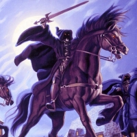 """The Brothers Hildebrandt Signed """"The Black Riders"""" Limited Edition 35x17 Giclee on Canvas at PristineAuction.com"""