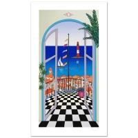 "Fanch Ledan Signed ""Arcachon Lighthouse"" Limited Edition 10x18 Serigraph"